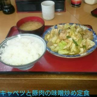 キャベツと豚肉の味噌炒め定食