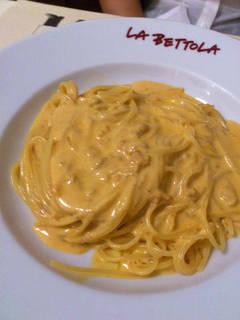 新鮮なウニのスパゲティ
