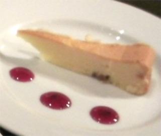ホワイトチョコレートのチーズケーキ