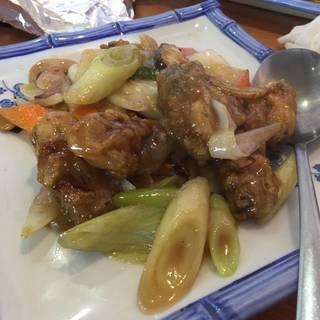 牡蠣のネギ生姜炒め