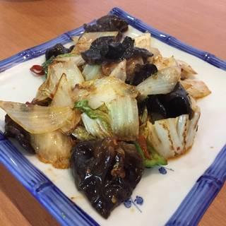 白菜とキクラゲ炒め