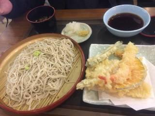 天ぷらそば(うどん) 冷たい蕎麦
