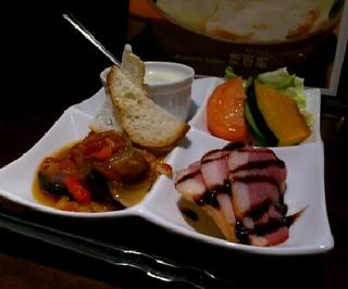 A lunch 彩色オードヴル4品盛合せと本日のパスタランチ