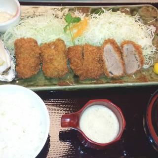 ヒレ&カキ定食