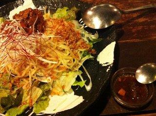 冷やしジャージャー麺サラダ