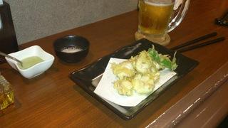 鮭の白子天ぷら