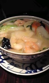 野菜と海老のスープそば