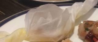 松茸と白身魚の紙包み蒸し