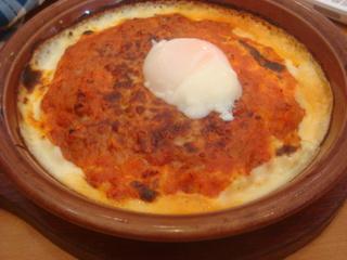 半熟卵のミラノ風ドリア