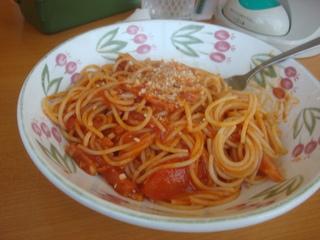 パルマ風スパゲティー トマト味