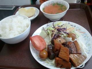 豚の角煮定食