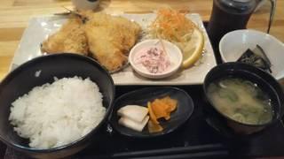 金アジフライ定食