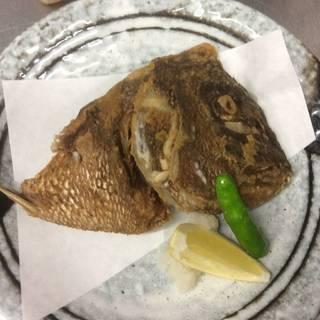 鯛のカブトの唐揚げ