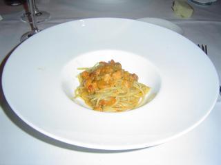 三陸産赤ウニのスパゲッティーニ