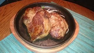 リブロースステーキ ハンバーグコンボ