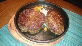 ハラミステーキ ハンバーグコンボ