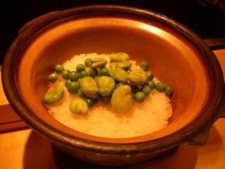 グリンピースとそら豆のご飯