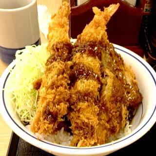 海老・ヒレ・メンチ ソースかつ丼