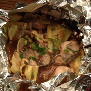 広島牡蠣のホイル包み焼き