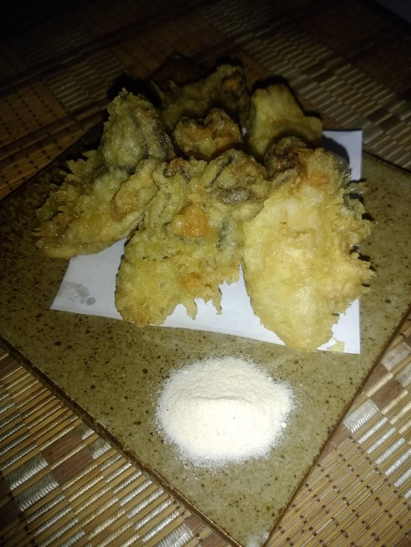 季節限定かきの天ぷら 牡蠣塩で。