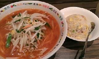 スーラータンメン+半炒飯
