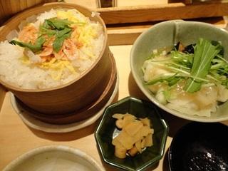駿河湾産桜えびのせいろご飯と野菜のみぞれあんかけ定食