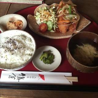 白身魚のあんかけ定食