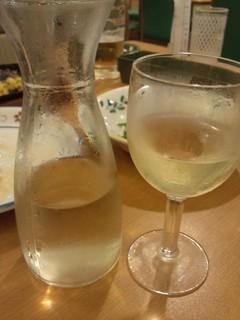 白ワイン デキャンタ
