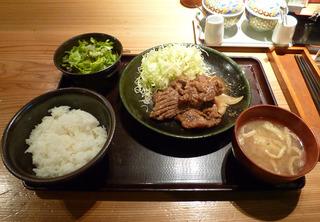 豚生姜焼き定食