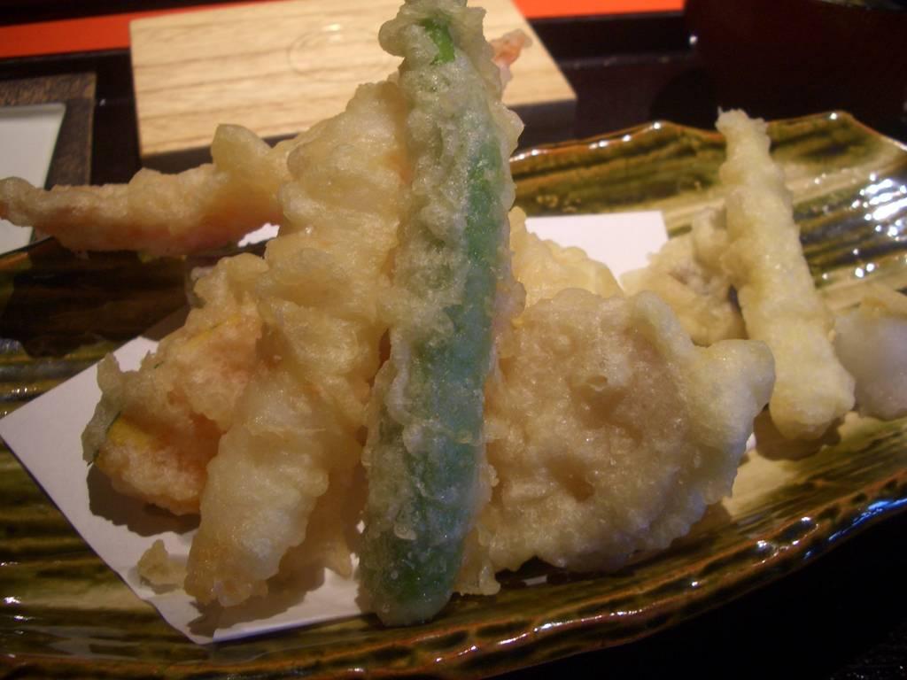 京のお野菜と大海老の天麩羅御膳