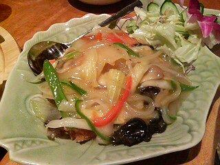 白身魚と野菜のあんかけ