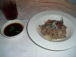 香港風牛肉の湯引き
