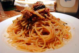 ワタリガニのトマトソーススパゲティ