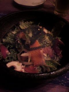 海ぶどう入り 海鮮サラダ