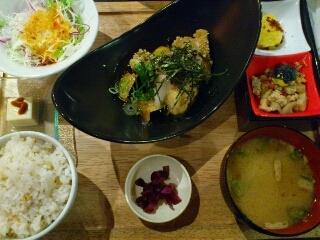 玄米揚げ生麩の揚げだし定食
