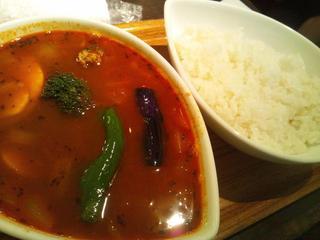 野菜カレー 赤