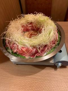 もち豚の肉炊き鍋