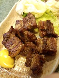 味噌ぶた肉の網焼き