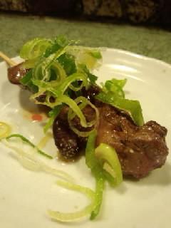 串焼きレバー(ごま油)