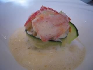タラバ蟹と帆立貝のムース 秋の味覚のクールジェット巻