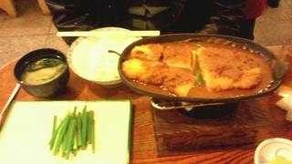 お大葉の窯焼き味噌とんかつ定食