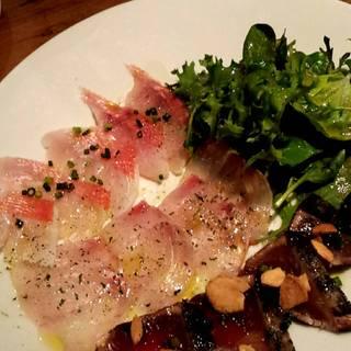 鮮魚のカルパッチョ3点盛
