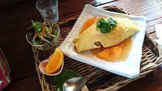 椎茸と高菜のオムライス