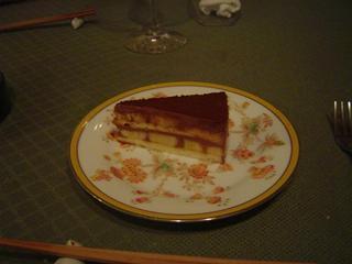 チョコレートとバナナのケーキ