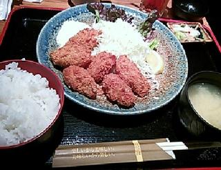 旬のカキフライ定食