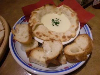 ピザ屋さんのチーズフォンデュ