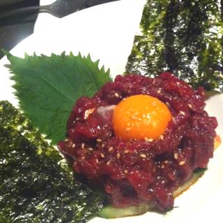 桜肉ユッケ