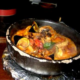 海鮮トマト鍋のおうどん