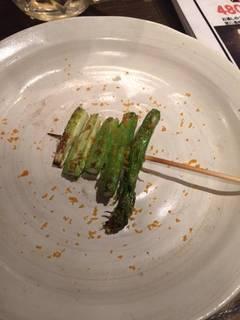 アスパラ串焼き