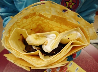 チョコレートバナナブラウニークレープ